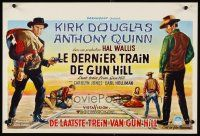 6a021 LAST TRAIN FROM GUN HILL Belgian '59 Kirk Douglas, Anthony Quinn, directed by John Sturges!