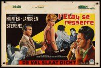 6a029 MAN-TRAP Belgian '61 Jeffrey Hunter mixed up with sexy bad girl Stella Stevens!