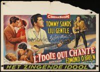 6a046 SING BOY SING Belgian '58 romantic close up of Tommy Sands & Lili Gentle, rock & roll!