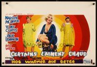 6a001 SOME LIKE IT HOT Belgian '59 sexy Marilyn Monroe with Tony Curtis & Jack Lemmon in drag!