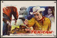 6a051 TEXICAN Belgian '66 art of cowboy Audie Murphy, sexy Diana Lorys!