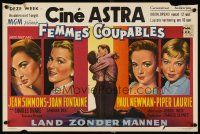6a058 UNTIL THEY SAIL Belgian '57 Newman & sexy Jean Simmons, Piper Laurie, Joan Fontaine!