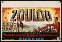 6a067 ZULU Belgian '64 Stanley Baker & Michael Caine classic, different art of soldiers & natives!