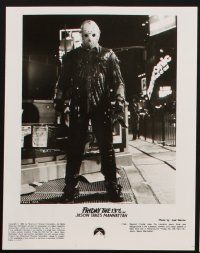 6f067 FRIDAY THE 13TH PART VIII presskit w/ 6 stills '89 Jason Takes Manhattan, cool horror images!
