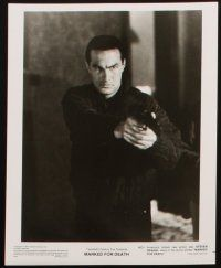 6f053 MARKED FOR DEATH presskit w/ 8 stills '90 tough guy Steven Seagal is a good cop in a bad mood!