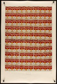 6j006 ANDY WARHOL 100 CANS 26x38 art print '78 classic Campbell's Soup artwork image!