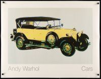 6j012 ANDY WARHOL: CARS 28x36 art print '88 cool colorized image of vintage automobile!