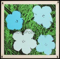 6j004 ANDY WARHOL FLOWERS 28x28 French art print '70 blue style!