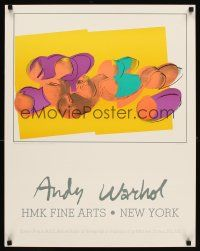 6j014 ANDY WARHOL HMK FINE ARTS: PEACHES 22x28 art exhibition '80s colorful image!