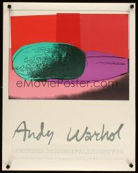 6j020 ANDY WARHOL LEV/STEINER 22x28 art exhibition '90s Space Fruit collection!
