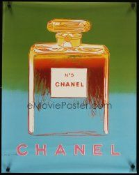 6j018 CHANEL NO. 5 commercial poster '97 advertisement for the famous perfume by Andy Warhol!