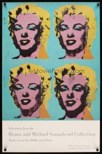 6j010 ILEANA & MICHAEL SONNABEND COLLECTION 24x37 art exhibition '85 Warhol art of Marilyn Monroe!