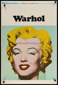 6j003 TATE GALLERY WARHOL glossy paper style English art exhibition '71 Andy art of Marilyn Monroe!