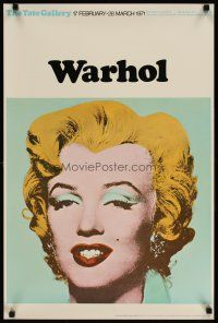 6j002 TATE GALLERY WARHOL woven paper style English art exhibition '71 Andy art of Marilyn Monroe!