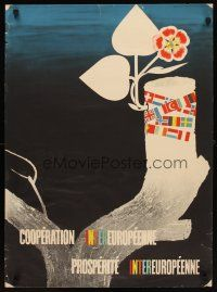 6j056 COOPERATION INTEREUROPEENNE 22x29 Dutch WWII war poster '50 Marshall Plan recovery!