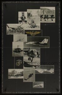 6j078 FLY WITH THE U.S. MARINES military recruiting poster '70s images of fighting aircraft!