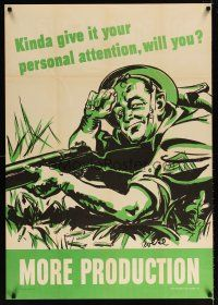 6j043 MORE PRODUCTION 28x40 WWII war poster '42 Roese art, give it your personal attention!