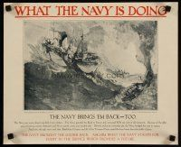 6j027 WHAT THE NAVY IS DOING set of 3 14x17 WWI war posters '18 images of World War I sailors!