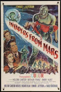 7d130 INVADERS FROM MARS 1sh '53 hordes of green monsters from outer space, rare first release!
