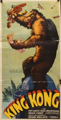 7d001 KING KONG pressbook '33 incredibly elaborate, lots of color, includes the die-cut herald!