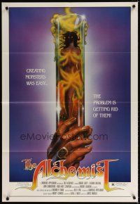7h037 ALCHEMIST 1sh '85 directed by Charles Band, sexy monster in a test tube art!