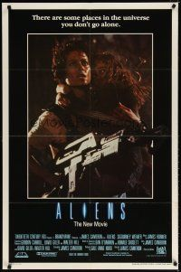 7h039 ALIENS int'l 1sh '86 James Cameron, there are some places in the universe you don't go alone!