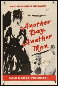 7h056 ANOTHER DAY ANOTHER MAN 1sh '66 sex without shame, Barbara Kemp, Doris Wishman directed!