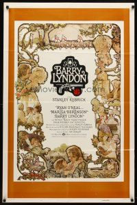 7h073 BARRY LYNDON int'l 1sh '75 directed by Stanley Kubrick, Ryan O'Neal & Marisa Berenson!