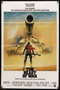 7h077 BEAST int'l 1sh '88 Jason Patric, cool artwork of lone solider standing up to tank!