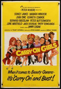 7h003 CARRY ON GIRLS English 1sh '73 English sex, the 25th and funniest Carry On hit!