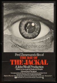 7h004 DAY OF THE JACKAL English 1sh '73 Fred Zinnemann classic, best close up art of eye!