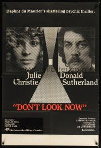 7h005 DON'T LOOK NOW English 1sh '73 Julie Christie, Donald Sutherland, directed by Nicolas Roeg!