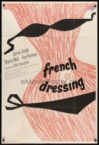 7h006 FRENCH DRESSING English 1sh '64 Ken Russell directed, James Booth, sexy artwork!