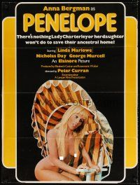7h009 PENELOPE PULLS IT OFF 1sh '75 sexy naked Anna Bergman in title role!