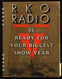 7k009 RKO RADIO PICTURES 1937-38 campaign book '37 lots of Astaire & Rogers, wonderful art!