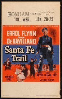 7k416 SANTA FE TRAIL WC '40 Errol Flynn, Olivia De ...