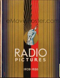 7k001 RADIO PICTURES 1929-30 campaign book '29 sensational full-color ads with lurid artwork!