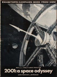 7k031 2001: A SPACE ODYSSEY pressbook '69 Stanley Kubrick, art of space wheel by Bob McCall!