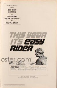 7k048 EASY RIDER pressbook '69 Peter Fonda, motorcycle biker classic directed by Dennis Hopper!
