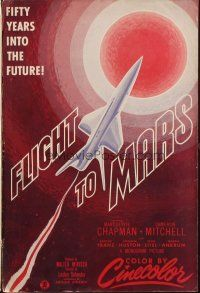 7k051 FLIGHT TO MARS pressbook '51 the most fantastic expedition ever conceived by man!