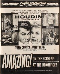 7k059 HOUDINI pressbook '53 Tony Curtis as the famous magician + his sexy assistant Janet Leigh!