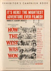 7k060 HOW THE WEST WAS WON pressbook '64 John Ford epic, Debbie Reynolds, Gregory Peck & all-stars