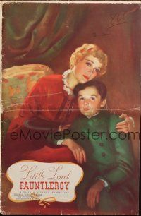 7k071 LITTLE LORD FAUNTLEROY pressbook '36 great art of Freddie Bartholomew & Dolores Costello!