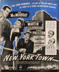 7k081 NEW YORK TOWN pressbook '41 Mary Martin between Fred MacMurray & Robert Preston!