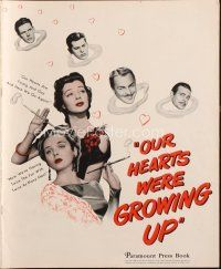 7k085 OUR HEARTS WERE GROWING UP pressbook '46 Gail Russell, Diana Lynn, Brian Donlevy!