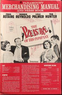 7k089 PLEASURE OF HIS COMPANY pressbook '61 Fred Astaire, Debbie Reynolds, Lilli Palmer, Tab Hunter
