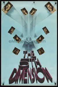 7x057 5TH DIMENSION 24x36 music poster '69 vocal music group, trippy design!