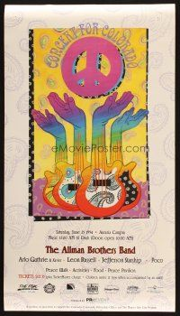 7x058 ALLMAN BROTHERS BAND 14x25 music poster '94 cool hippy artwork by Farley!