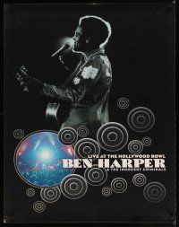 7x059 BEN HARPER 28x36 music poster '03 cool image of singer on stage w/guitar!