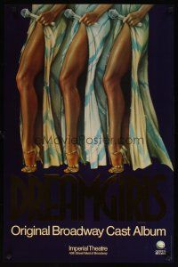 7x063 DREAMGIRLS foil stage play 23x35 music poster '81 cool artwork of sexy legs!